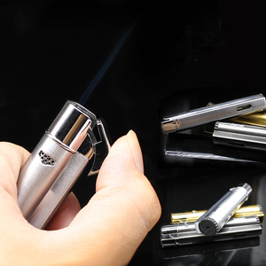 Image 5 - Tubes Pipe Lighter Jet Torch Turbo Lighter Gas Windows Compact Strip Windproof Metal Cigar Lighter 1300 C Butane No Gas