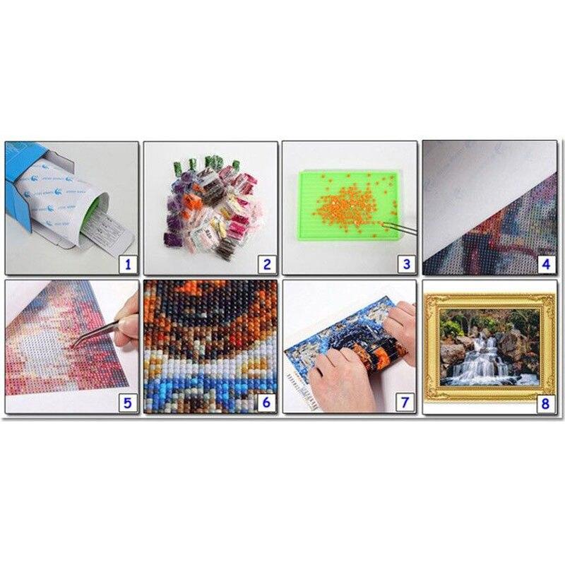 5D volledige diamant schilderij Kleurrijke magic vierkante diamanten AB heldere diamant vormige diamant pauw - 6