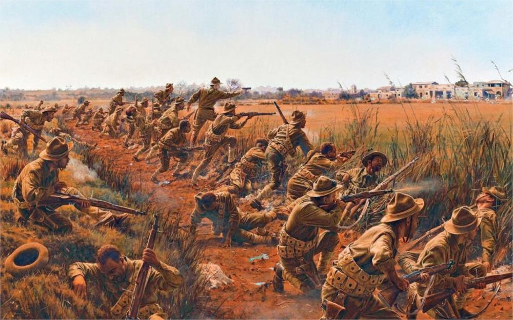 Art first world war 1 WW1 battle soldiers Springfield Springfield M1903 American store rifles Home Decoration Canvas Poster image