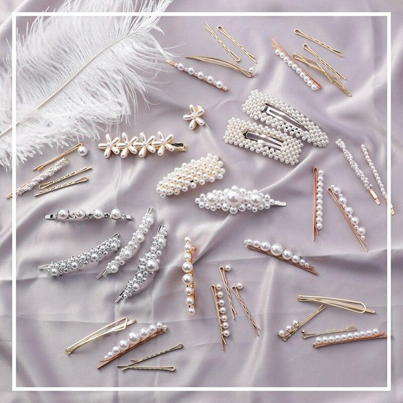 Nuevas llegadas Vintage oro plata Color simulado perlas pelo de novia de pelo Pelo Pin palillo del pelo accesorios