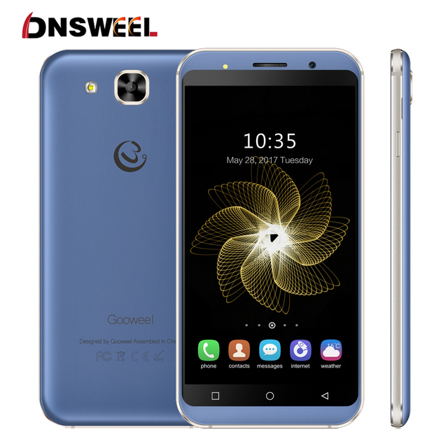 Gooweel S8 3G Smartphone MTK6580 quad core 5.3 inch HD IPS mobile phone 5MP+5MP Camera 1GB RAM 8GB ROM GPS Android Cell phone