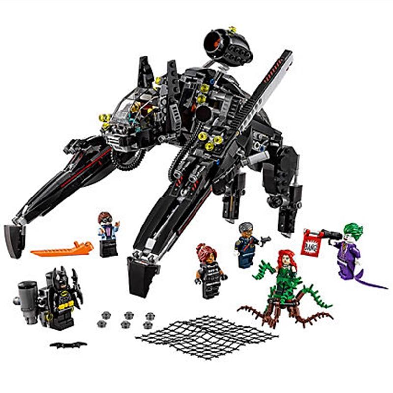 DC Super Hero Scuttler Бэтмен Джокер Ядовитый плющ Batman movie Legobatman 70908 Блок Комплект подарок для ребенка модель строительный блок игрушки