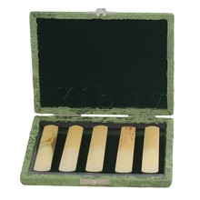 Yibuy Green Saxophone Reed Box Case with Flannel Slot Hold Saxophone 5-Reeds
