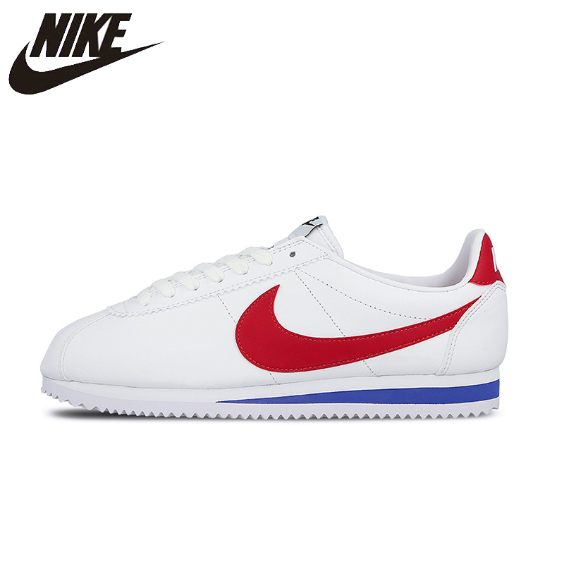 NIKE Classic Cortez Leather New Arrival Womens Running Shoes Stability Footwear Super Light Sneakers For Women Shoes#807471-103 nike original new arrival womens running shoes breathable light stability high quality for women 844888 006 844888 101
