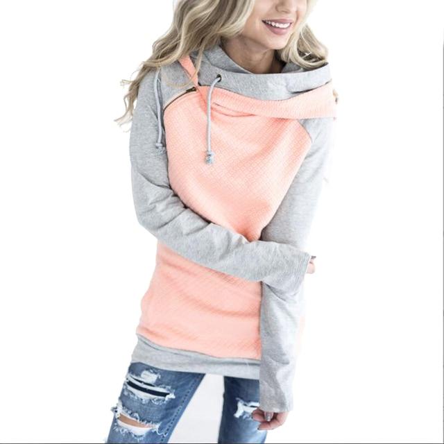 Oversize Hoodies Sweatshirts Women Pullover Hoodie Female Patchwork Double  Hood Hooded Sweatshirt Autumn Coat Warm Hoody XXXL 976cbe6d8