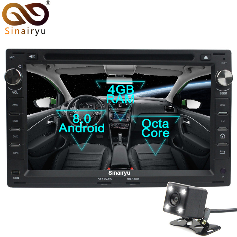 Octa Core Android 8.0 Car DVD GPS Radio For Old VW Transporter T4/T5 Bora Passat Mk5 Golf Mk4 Polo Jetta Peugeot 307 1998-2008