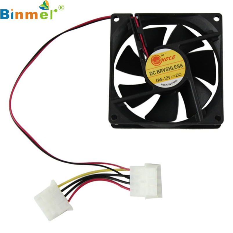 Binmer SimpleStone Computer Case Cooler 12V 8CM 80MM PC CPU Cooling Cooler Fan 6312B13 new 3u ultra short computer case 380mm large panel big power supply ultra short 3u computer case server computer case