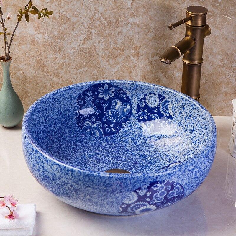 Europe Vintage Style Ceramic Art Basin Sink Counter Top Wash Basin Bathroom Sinks Vanities Custom Made Wash Basin Bathroom Sinks Sink Counter Top Bathroom Sinkbasin Sink Aliexpress