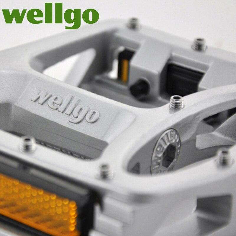Pédales vtt Wellgo 2 pédales de vélo à roulements scellés pour pédales de VTT de route bmx larges pédales de cyclisme en alliage de magnésium MG-1 - 5