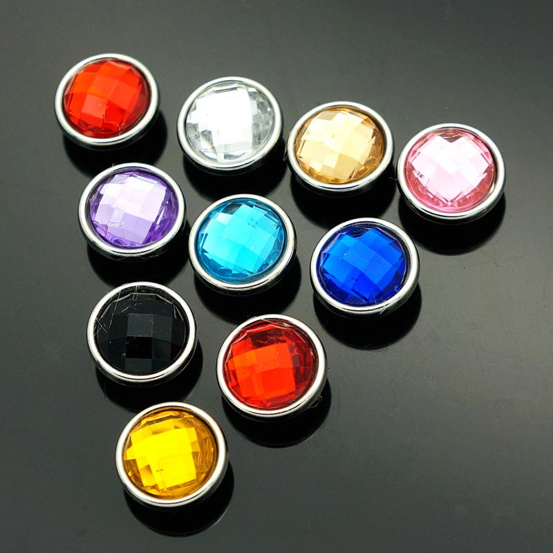 New NS5013 Mixed 10pcs 12mm colorful rocky surface Beauty snap buttons fit DIY snap brac ...