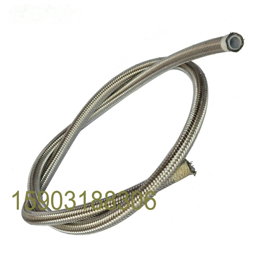 Stainless Steel  Braided PTFE Fuel Hose Line Pressure Pipe Reinforced SS Oil