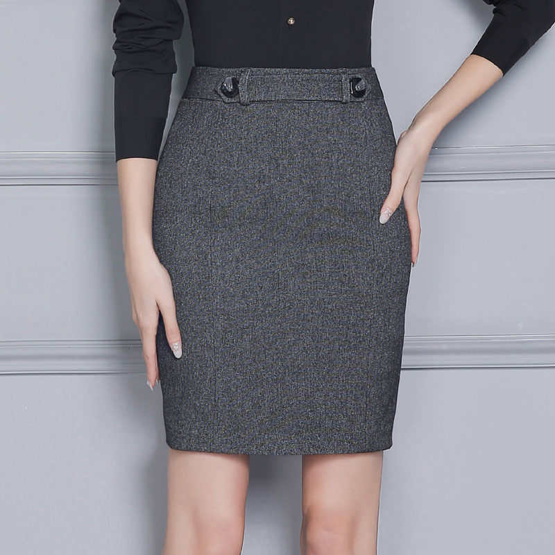 Novedad gris profesional formal ol estilos Slim moda profesional negocios  work wear Faldas damas mini falda Delgado caderas en Faldas de La ropa de  las ... 24f0bedbad1b