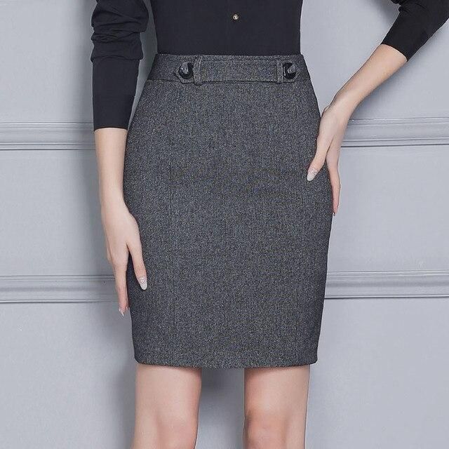 480ffce58b5 Novelty Grey Professional Formal OL Styles Slim Fashion Professional  Business Work Wear Skirts Ladies Mini Skirt Slim Hips