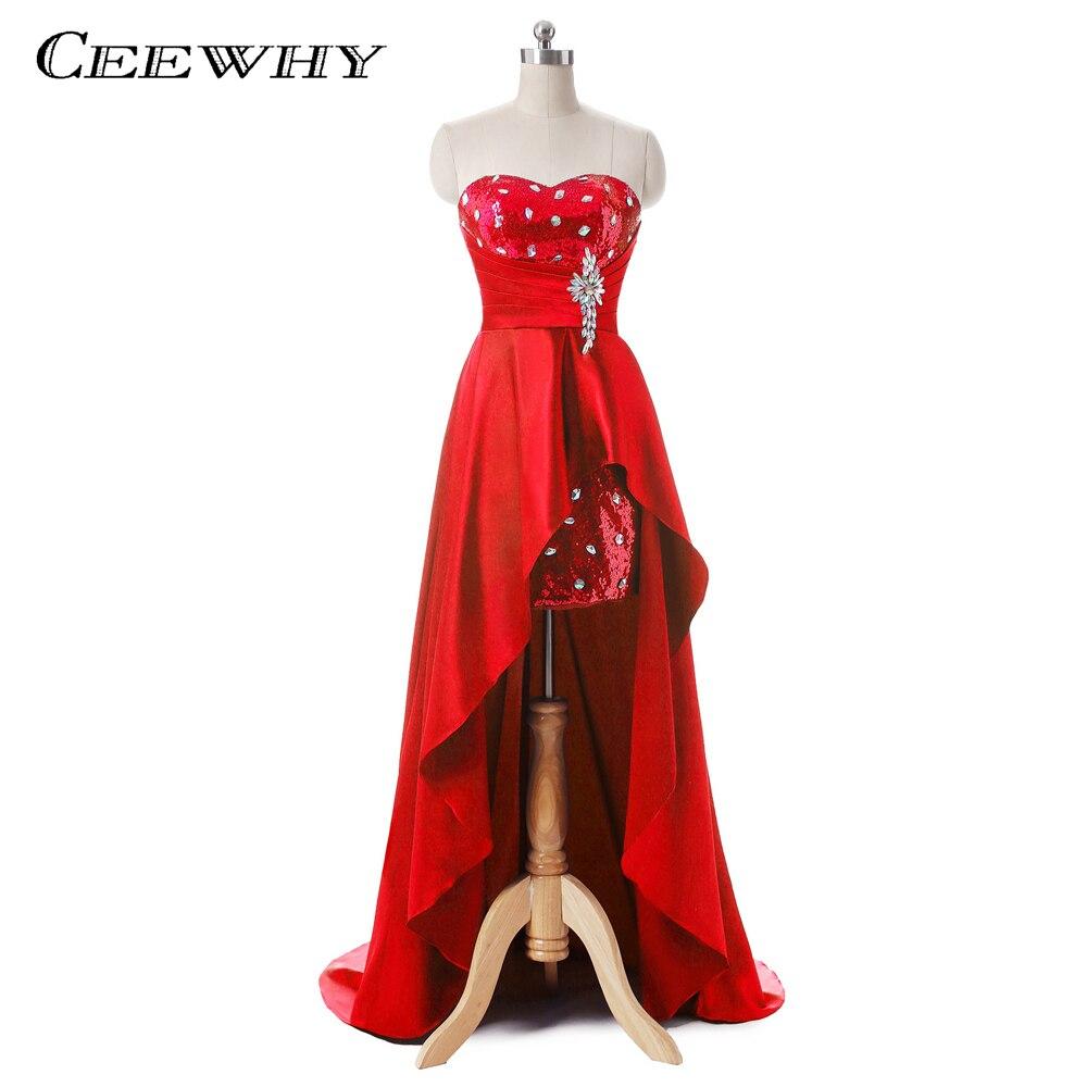 Satin Patchwork Asymmetriska Kvinnor Formella Kappor Crystal Long - Särskilda tillfällen klänningar - Foto 1