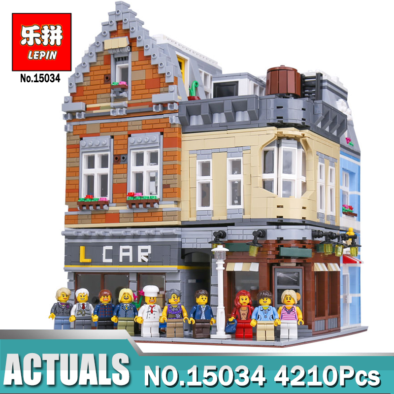 Lepin 15034 4210Pcs MOC Street View Series The Potter Corner Building Blocks Bricks Compatible Legoing Bricks Toys for Children садовый совок truper ggtl tr 15034