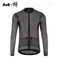 Men S Summer Hollow Long Sleeve Cycling Jersey Quick Dry Outdoor Sports Jerseys Anti Sweat Mtb