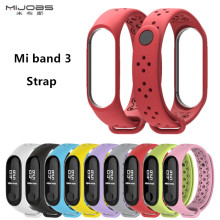 MIJOBS Mi Band 3 Strap Bracelet wrist strap watch xiomi accessories smart bracelet sport Silicone miband3 for Xiaomi mi band 3