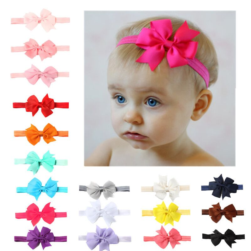 New fashion mini solid color V-shaped ribbon swallowtail baby bow hair band hair accessories boys and girls   headwear   accessories
