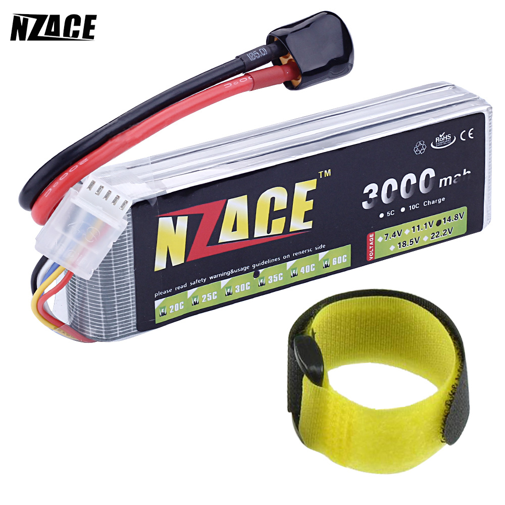 NZACE 4S lipo battery 14.8v 3000mAh 35C rc helicopter rc car rc boat quadcopter remote control toys Li-Polymer battey xxl a grade 4s lipo battery 14 8v 5200mah 30c helicopter rc car quadcopter remote control toys li polymer battey rc parts