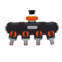 4 Way Hose Splitter Garden Connector Heavy Duty Fitting for Drip Irrigation, Timers, and Lawns