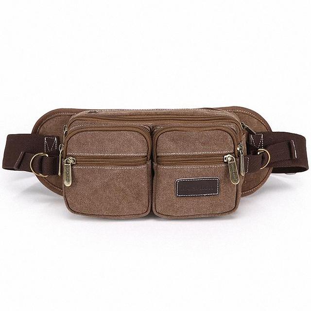 2016 hombres de la lona de alta calidad multifunción hombres paquete pecho bolso de la cintura paquete de la cintura bolsa de viaje divertido LI-1136