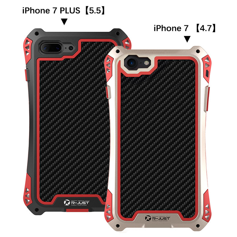 7 life Waterproof Shockproof Metal Aluminum Armor phone case cover for iphone 7 7plus cell phone