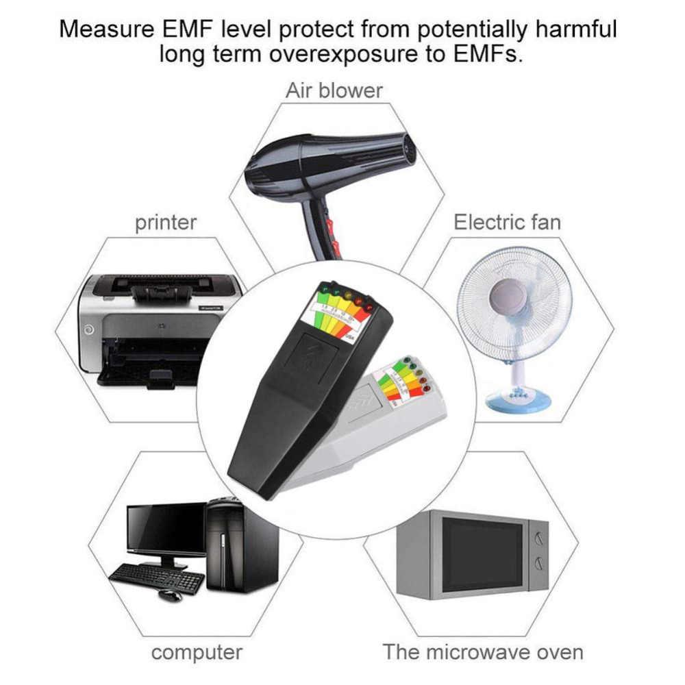 KII K2 pole elektromagnetyczne EMF miernik gaussa duch polowanie detektor przenośny detektor pola magnetycznego EMF 5 LED miernik gaussa