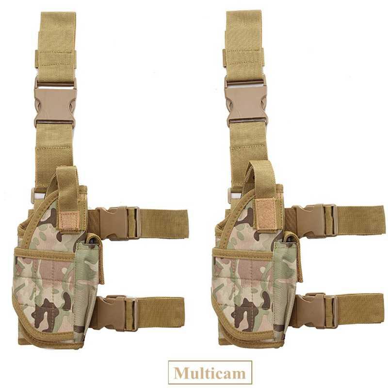 Drop Leg מתכוונן טקטי צבא אקדח אקדח ירך נרתיק פאוץ מחזיק לגלוק 17 19 31 32 ביותר אקדח