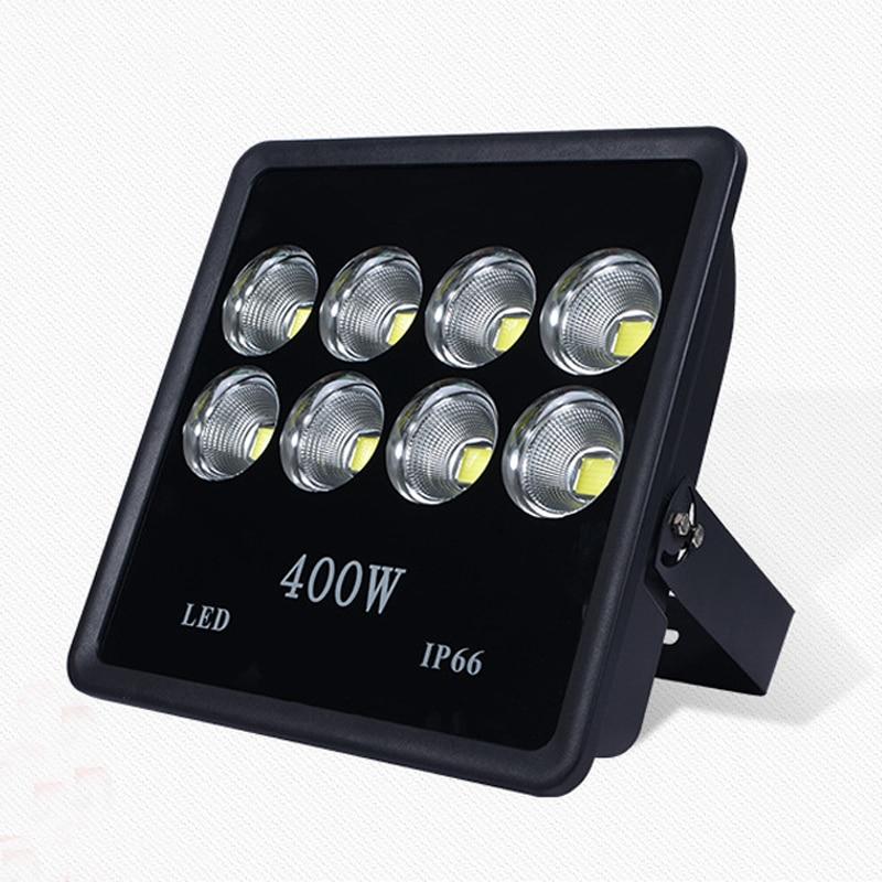 2pcs 85-265V 6000K 220V 110V Spotlight 100W 200W 300W 400W 500W floodlight street white IP65 Waterproof Outdoor Lighting