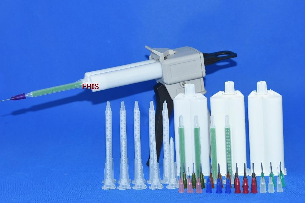 50ML AB glue cartridge 2: 1 1: 1 Manual Dispense Gun with Cartridge combinations