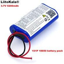 Liitokala engineer 3.7 v 5200 mah 18650 Pin Lithium Gói Cá LED Ánh Sáng Bluetooth Loa 4.2 v Khẩn Cấp TỰ LÀM pin + 2 p cắm
