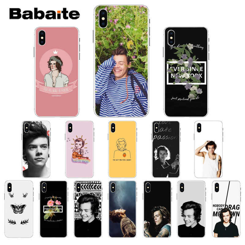 Babaite Sänger Harry Styles One Direction Hohe Qualität Weiche TPU Telefon Fall für Apple iPhone 8 7 6 6 s plus X XS MAX 5 5 s SE XR