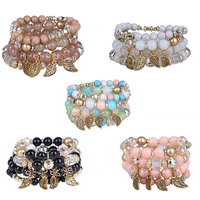 Bransoletka koralik 5 kolor lato Czeska bransoletki charm bransoletki i bangles bransoletki dla kobiet prezent biżuteria hurtowych Jocesytle
