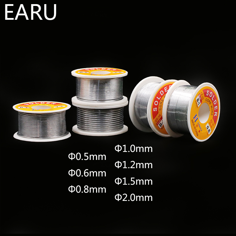 0.6/0.8/1/1.2/1.5/2MM 63/37 FLUX 2.0% 45FT Tin Lead Wire Melt Rosin Core Solder Soldering Wire Roll For Eletric Solder Iron 100g