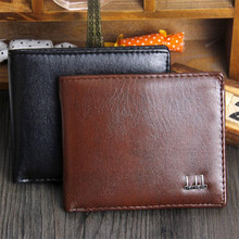 Soft Leather Wallet Fashion Short Bifold Men Purse Casual So