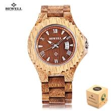 Новинка мужские часы bewell деревянные кварцевые часы световой Водонепроницаемый календарь Мода наручные часы Relogio masculino природа Дизайн
