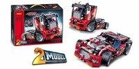 2 Model Decool tuğla 3360 608 adet Yarış Kamyon Araba Dönüştürülebilir Model Yapı Taşı Setleri lepin için Teknik LEGO için FIT 42041