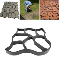 Garden Concrete Molds Paving Brick for Paving Cement Brick Molds Stone Road Concrete Molds Tool DIY Plastic Path Maker Mold