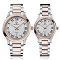 Ochstin Casal Mulheres Relógio de Ouro Rosa Homens Resistentes À Água Relógios 2016 Marca de Luxo Quente Orologio Donna Acciaio inox Numeri Romani