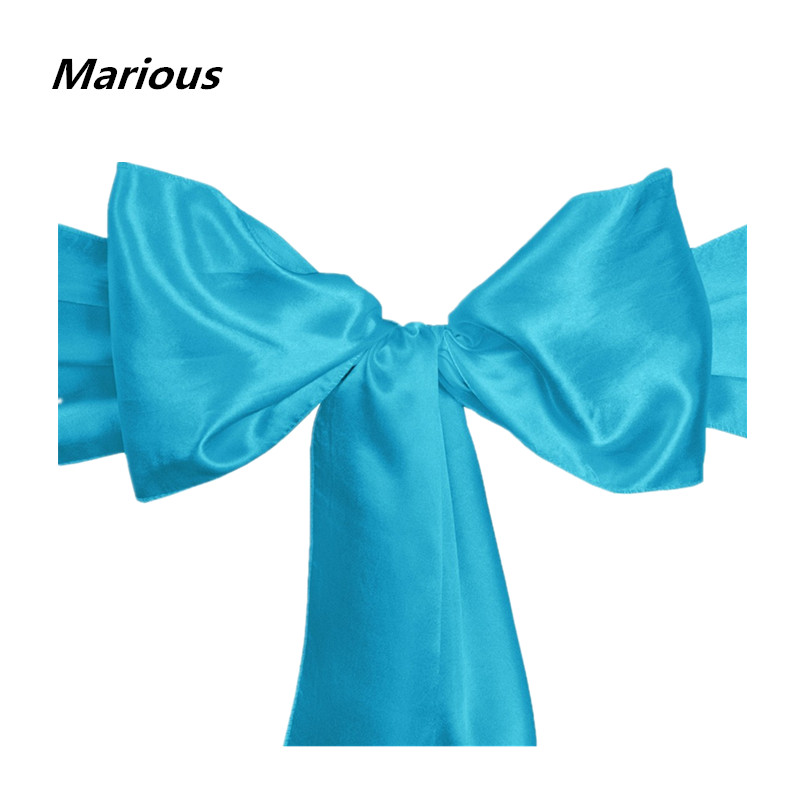 Free Shipping Satin Chair Sashes Hoods Bow Ties Chair back Tied For Wedding Banquet Party Event 100 pcs/lot