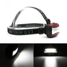 3 colors Mini 3 Modes Waterproof 6 SMD LED Headlamp Outdoors Headlight Head Torch Lanterna Lighting By 3*AAA Battery