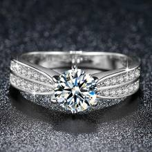 Beiver Новое поступление обручальные кольца для женщин полный Супер Блестящий Цирконий Белое золото ювелирные изделия подарки на день Святого Валентина