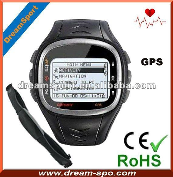 Free shipping!! DG-6P GPS running watch with heart rate/big LCD display/ IPX7  waterproof
