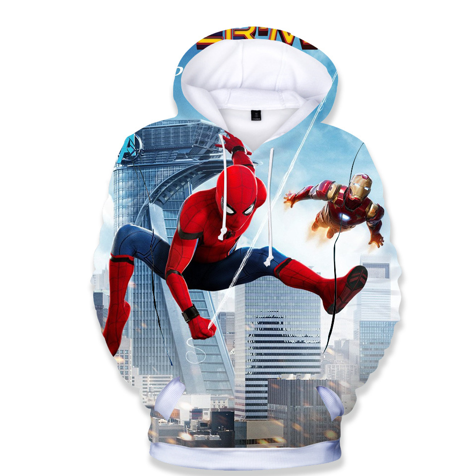 2019 Boys Girls 3D Cartoon Spiderman Hoodies Sweatshirts