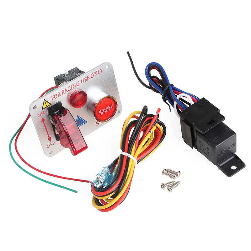 Racing Car 12v Ignition Switch Panel Engine Start Push Button Red Led Toggle: Race Car Switch Panel Wiring At Shintaries.co