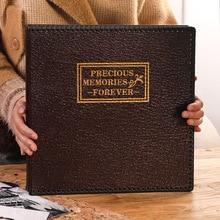 Álbum de piel sintética grande de 12 pulgadas, pegatina retro manual para manualidades, álbum de recortes familiar, regalo de colección de fotos con memoria de matrimonio