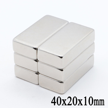 2pcs 40x20x10 mm N35 Super Strong Block Neodymium Magnets Rare Earth Magnet 40mm x 20mm x 10 mm image