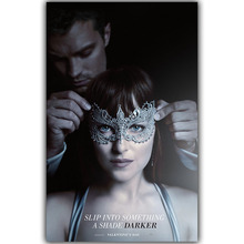 Fifty Shades of Grey Love Movie Poster Silk Art Print Poster Bedroom Living Room Wall Picture Painting Home Decoration DY1440(China)