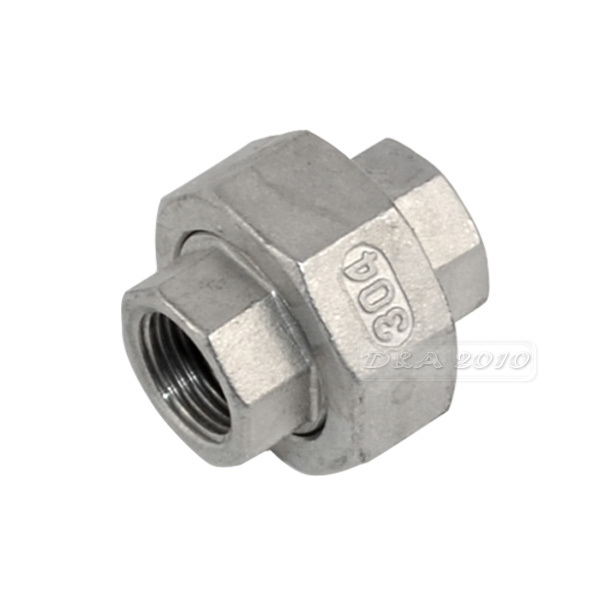 MEGAIRON BSPT 1/2 DN15 Thread Malleable Female Straight Union Coulping Pipe Fittings Stainless Steel SS304 2 x1 1 2 female nipple threaded reducer pipe fittings stainless steel ss304 new good quality