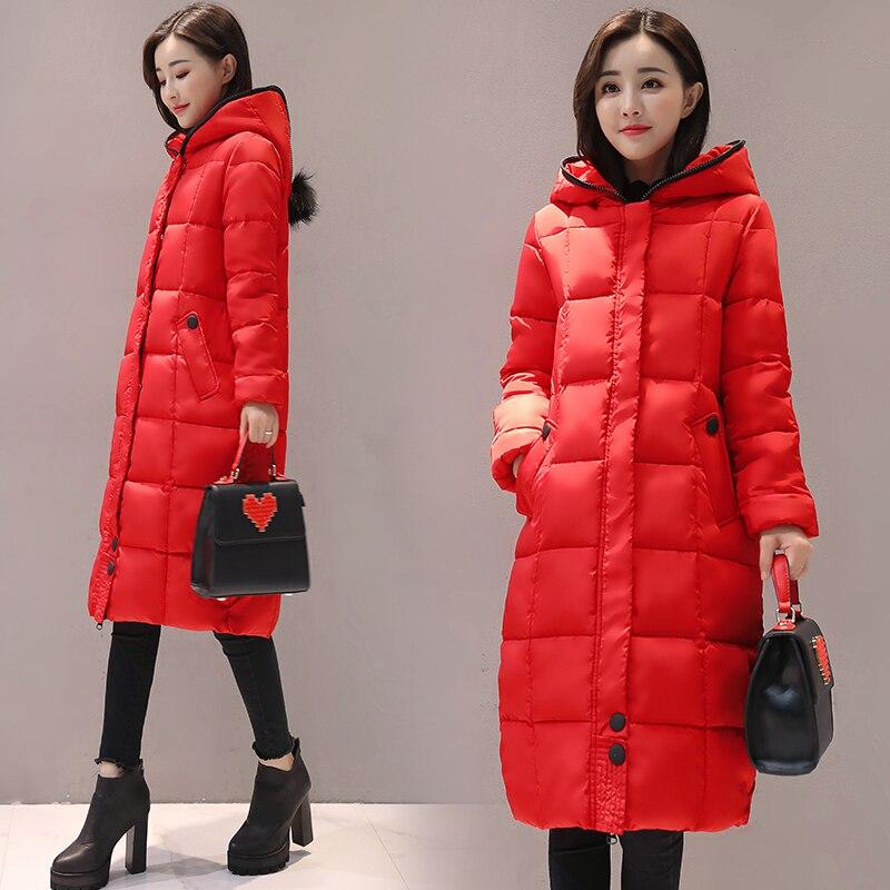 2017 Free Shipping Winter Jacket Women New Solid Hooded Coat Long Wear Down Cotton Women's Slim Casual Coats